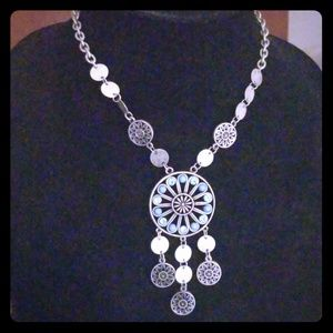 Dreamcatcher boho style necklace